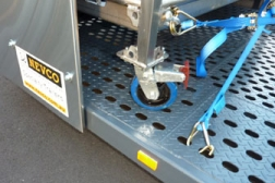 Stainless Steel Pit Trolley with Nevco Integrated Tie-Down System (NITS)