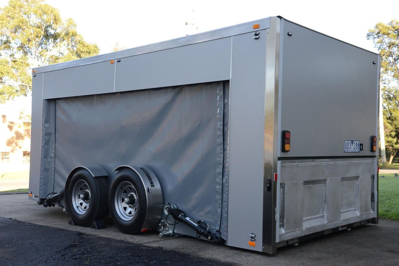 Racing Car Trailer Equipment Trailer Ground Loading